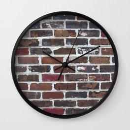 Brick Wall Vertical Wall Clock