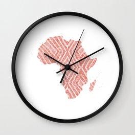Africa in Peach Wall Clock