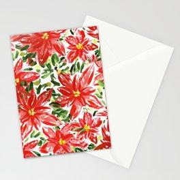 Pretty Poinsettias Stationery Cards
