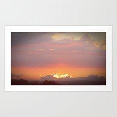 Setting Sun Art Print