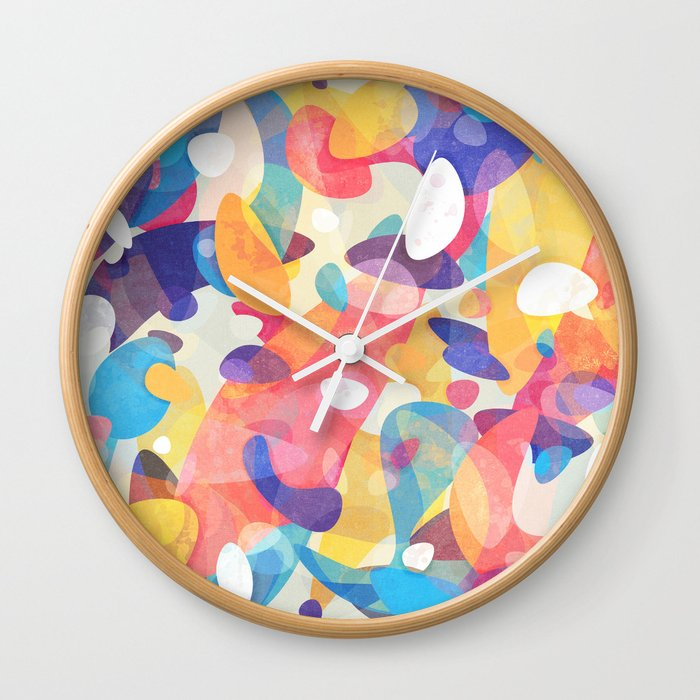 Chaotic Construction Wall Clock
