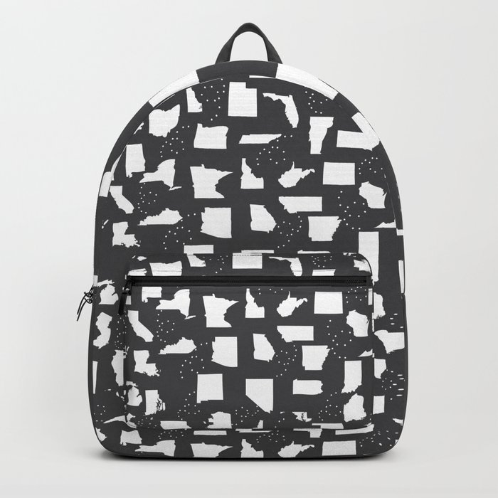 United States Black and White Backpack