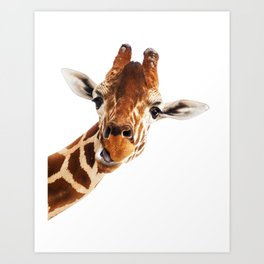 Giraffe Portrait // Wild Animal Cute Zoo Safari Madagascar Wildlife Nursery Decor Ideas Art Print
