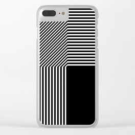 Geometric abstraction, black and white Clear iPhone Case