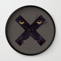 panther Wall Clocks featuring Panther by Zavu