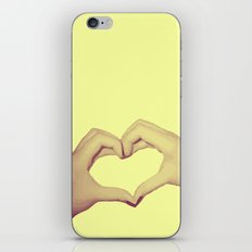 Heart Hand iPhone & iPod Skin