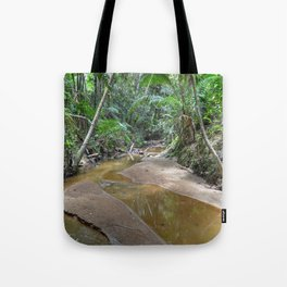 The Holy Spirit deep-forest river explorations in El Yunque rainforest PR Tote Bag