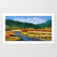 Rainbows Can Live in the Hills Art Print