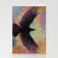 crow Stationery Cards featuring Crow by Michael Creese