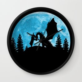 Friendship Of A Blue Moon Wall Clock