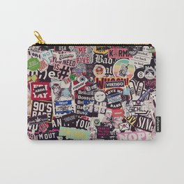 Colorful Sticker Vintage Abstract Pattern Carry-All Pouch