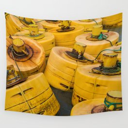 Yellow gathering Wall Tapestry
