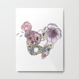 Pelvic Flora (Color) Metal Print