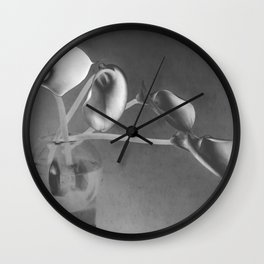 four lily Wall Clock