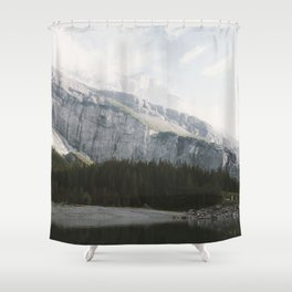 Airy Mountain Lake - Landscape Photography Shower Curtain
