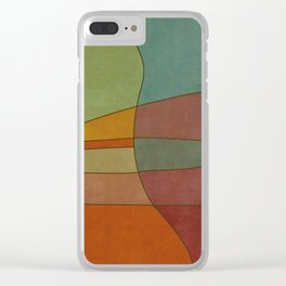 """""""Colorful Abstract Landscape"""" Clear iPhone Case"""