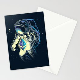 Space Ethereum - Navy Version Stationery Cards