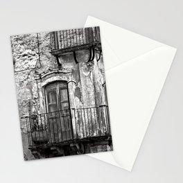SICILIAN MEDIEVAL FACADE Stationery Cards