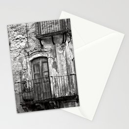 SICILIAN MEDIEVAL FACADE Stationery Cards