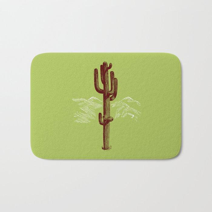 cactus y nieve Bath Mat