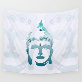 Buddha Head turquoise I Wall Tapestry