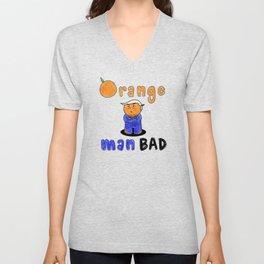 Orange Man Bad Unisex V-Neck