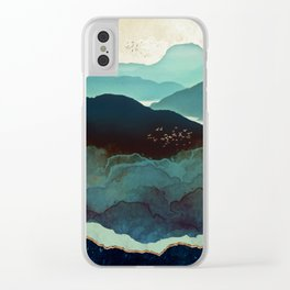 Indigo Mountains Clear iPhone Case