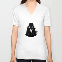 tokyo ghoul V-neck T-shirts featuring Kaneki Tokyo Ghoul 3 by Prince Of Darkness