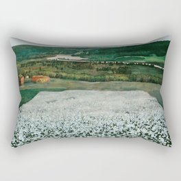 "Harald Sohlberg ""Flower Meadow in the North"" Rectangular Pillow"
