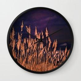 Abstract beach grass Wall Clock