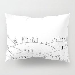 Landscape Doodle Art Pillow Sham