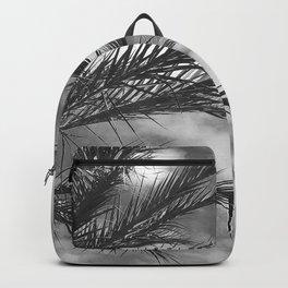 Palm Tree Upshot In Noir Clouds Backpack