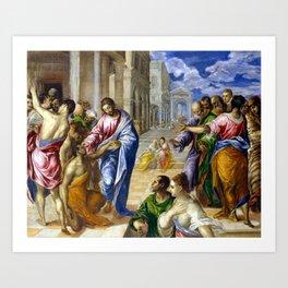 El Greco Christ Healing the Blind Art Print
