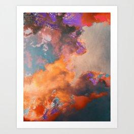 Colorful sky & clouds Art Print
