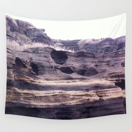 the Purple Cliff Wall Tapestry