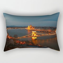 The Chain Bridge Rectangular Pillow