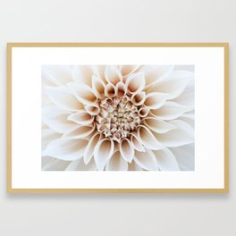 Cafe Au Lait Dahlia Framed Art Print
