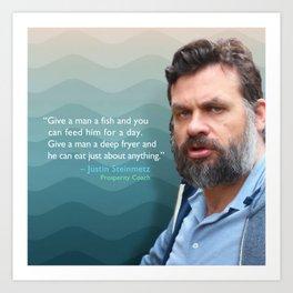 Give a Man a Fish Art Print