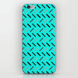 Wonky Rectangles Blue iPhone Skin