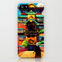 Colorful No face iPhone Case