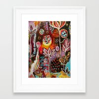 new year Framed Art Prints featuring New Year by kristenheinlein