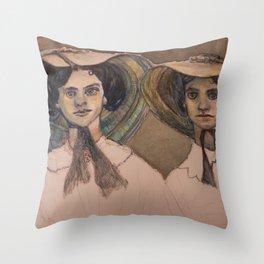 Sunbonnet Sisters Throw Pillow