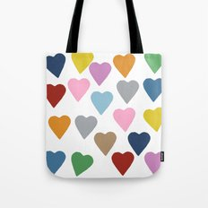 Hearts Colour Tote Bag