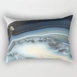 Blue Agate Geode Rectangular Pillow