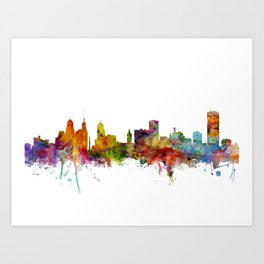 Buffalo New York Skyline Art Print
