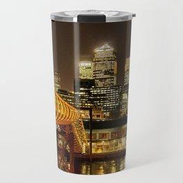 London, Piers of Docklands Hilton Travel Mug
