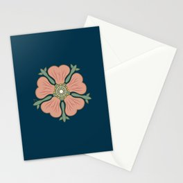 Beautiful hibiscus flower illustration, top view. Stationery Cards