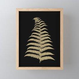 Fern Leaf Gold on Black #1 #ornamental #decor #art #society6 Framed Mini Art Print