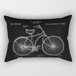 Vintage Bicycle patent illustration 1890 Rectangular Pillow