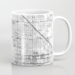 Vintage Map of Phoenix Arizona (1952) 2 BW Coffee Mug